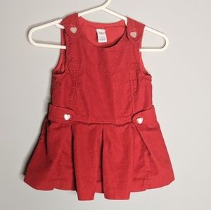 Baby Gap Red Courdory Heart Valentine's 3 to 6 m